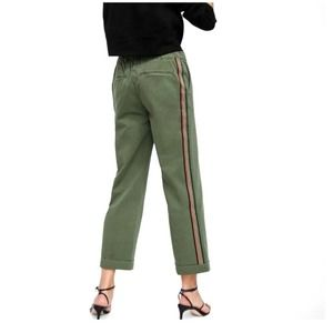 NWT Zara The Smart Jogging Jeans Green Size 2